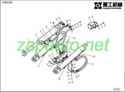 Изображение Цилиндр подъёма стрелы XG935III, XG935H