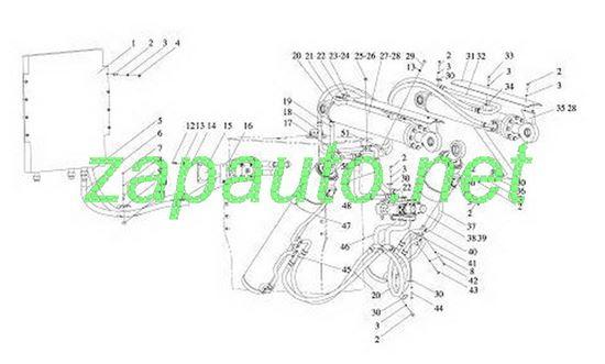 Изображение Цилиндр подъёма стрелы XG951H, XG953H