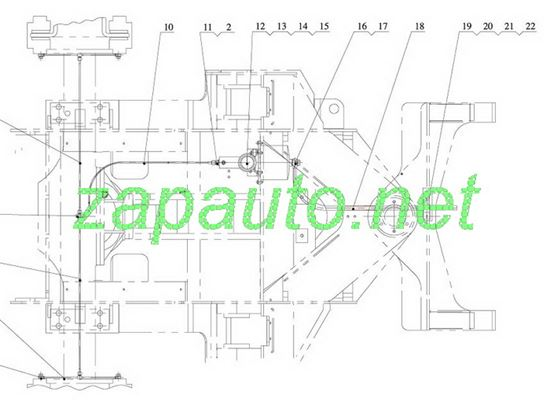 Изображение Шланг цилиндра тормозного переднего XG951H, XG953H, XG955H