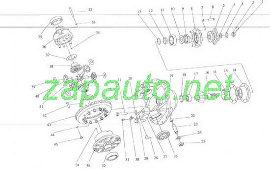 Изображение Пара коническая редуктора передняя XG931
